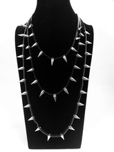 Load image into Gallery viewer, Layered 'Spiderweb' Spiked Necklace