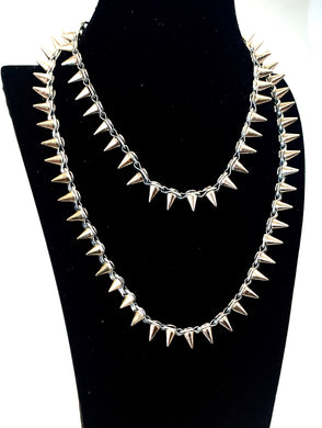 Nora Necklace Long & Layered Spike Necklace