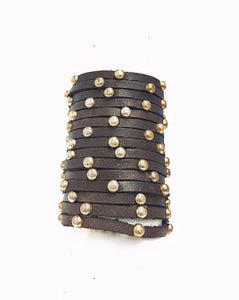 'Vera Versatile' Studded Wrap Around Cuff Bracelet