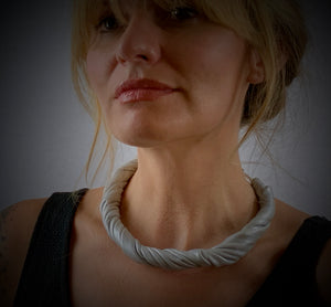 Leather Wrapped Necklace