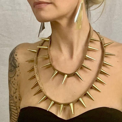 Celestial Spiked Necklace Set