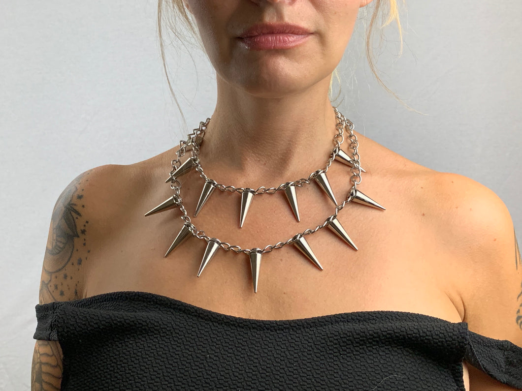 Lucille Layered Spike Necklace