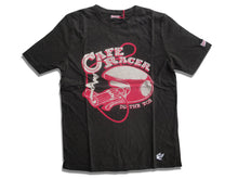 Laden Sie das Bild in den Galerie-Viewer, Cafe Racer T-Shirt Blau/Oliv/Creme/Braun