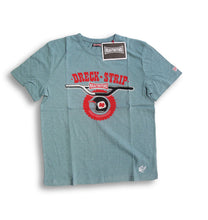 "Laden Sie das Bild in den Galerie-Viewer, Krautmotors ""Dreck Strip"" T-Shirt Blau/Creme/Braun"