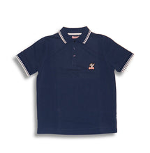 Laden Sie das Bild in den Galerie-Viewer, Polo Shirt Braun/Blau