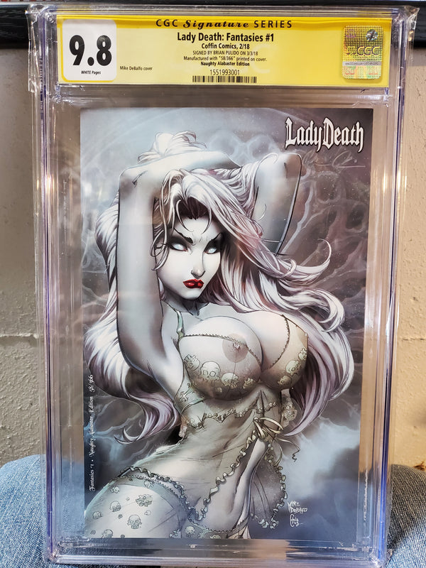 LADY DEATH FANTASIES #1 CGC 9.8 PULIDO SIGNED