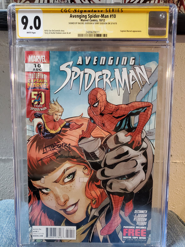 AVENGING SPIDER-MAN #10 9.0 SIGNED Dodson