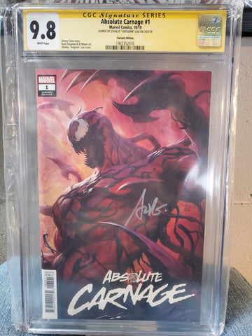 ABSOLUTE CARNAGE #1 ARTGERM SIGNED 9.8