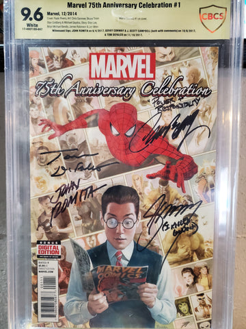 MARVEL 75TH ANNIVERSARY CELEBRATION SIGNED 9.6
