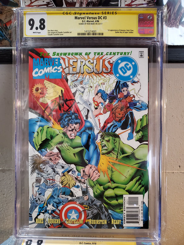 MARVEL VS DC #3 9.8 Signed CGC