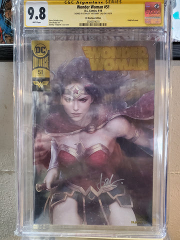 WONDER WOMAN #51 CGC SIGNED ARTGERM 9.8