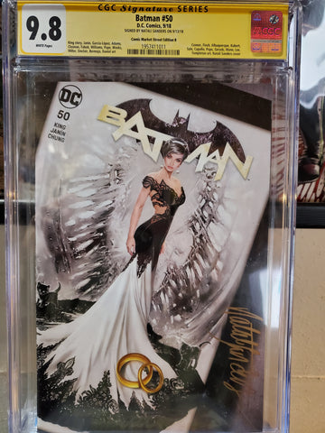 BATMAN #50 NATALI SANDERS SIGNED 9.8