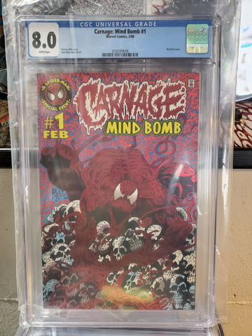 CARNAGE MIND BOMB #1 8.0 DAMAGED CASE