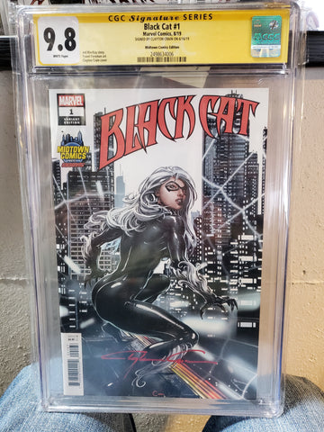 BLACK CAT #1 CLAYTON CRAIN SIGNED CGC 9.8