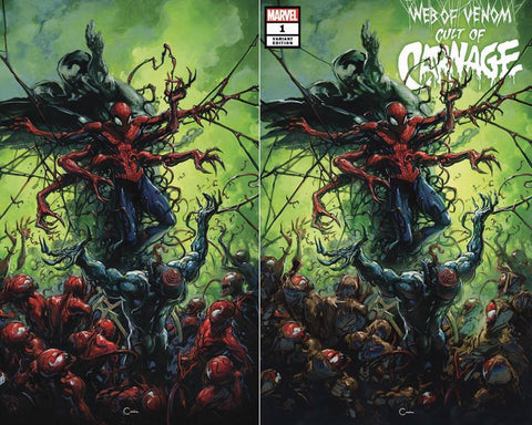 Web of Venom: Cult of Carnage #1 Clayton Crain Exclusive Set