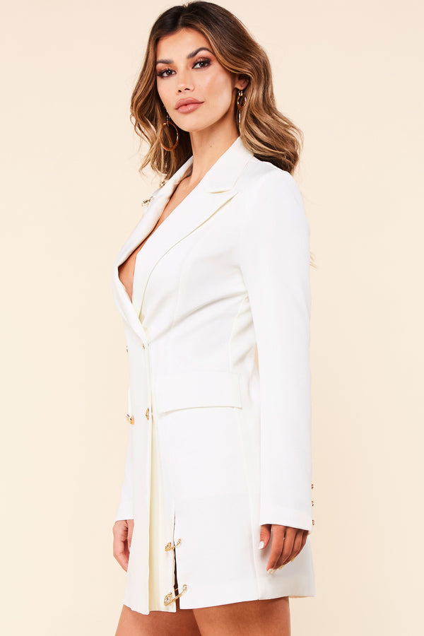 Esperanza All White Blazer Mini Dress