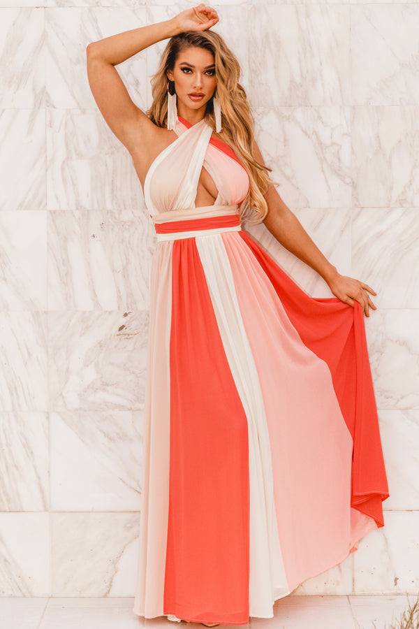Peaches And Cream Maxi Dress