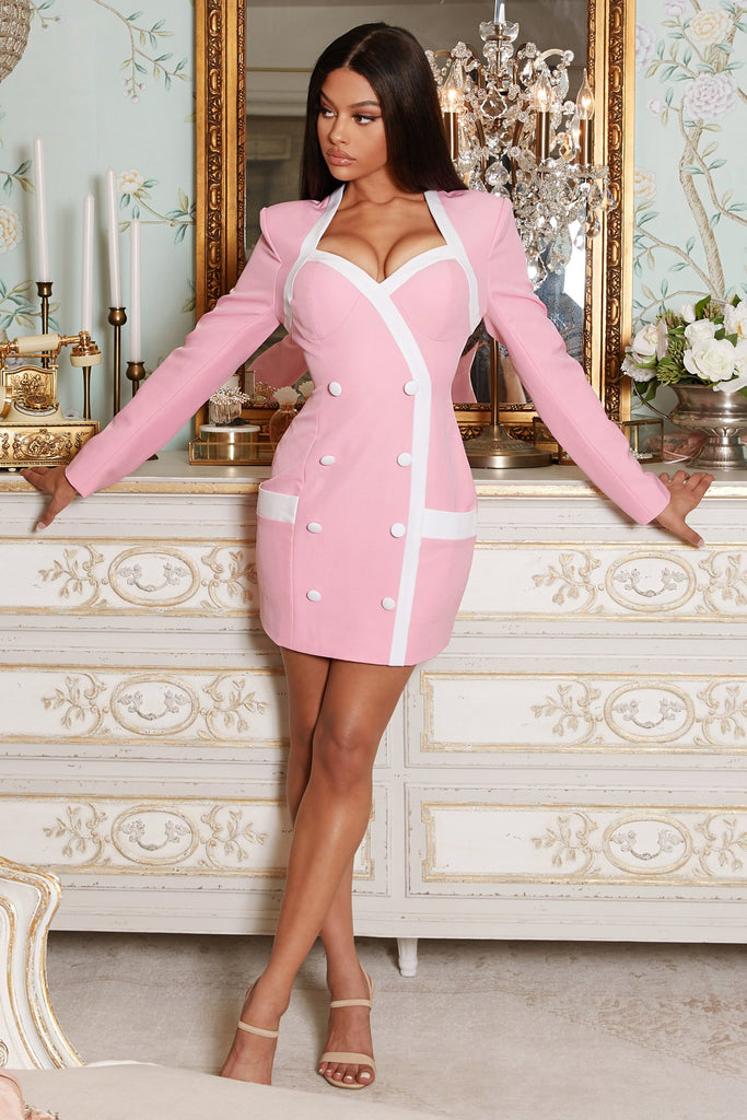 Lady Pink Mini Dress