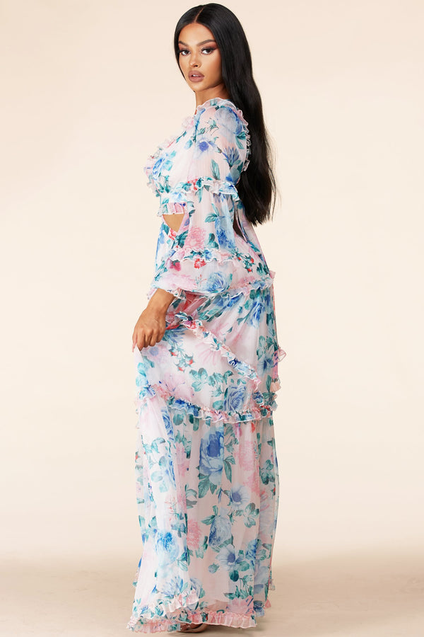 Springtime Lovin' Cutout Maxi Dress