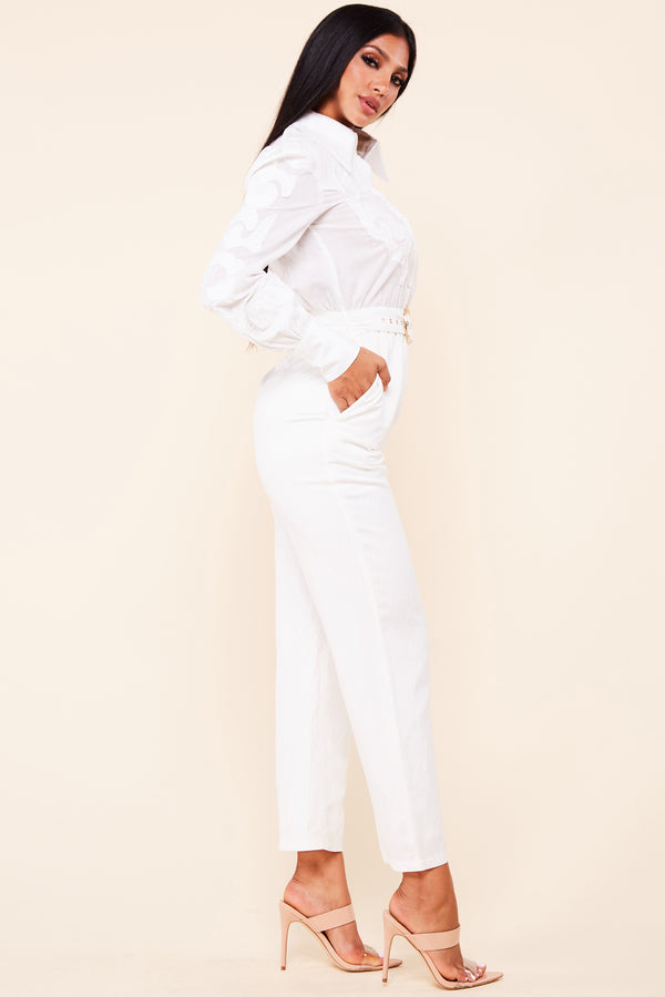 Cool Linen Straight Leg Jumpsuit