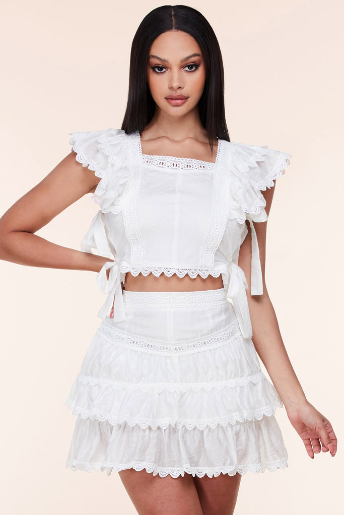 Delilah Crochet Skirt Set