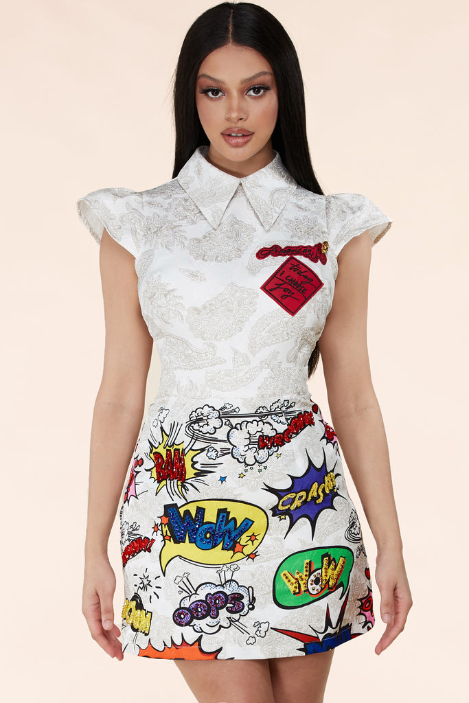Punk Pop Art Mini Dress