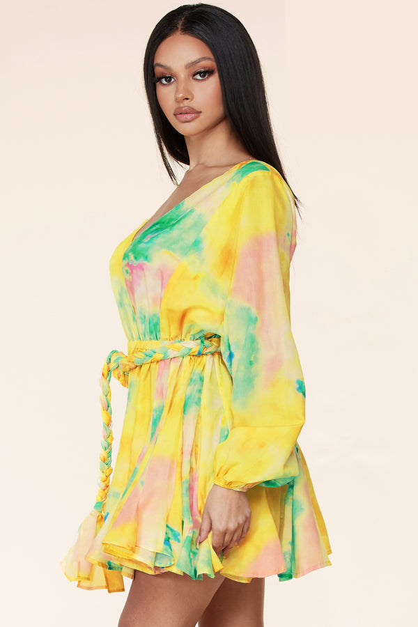 Afterglow Tie-Dye Mini Dress