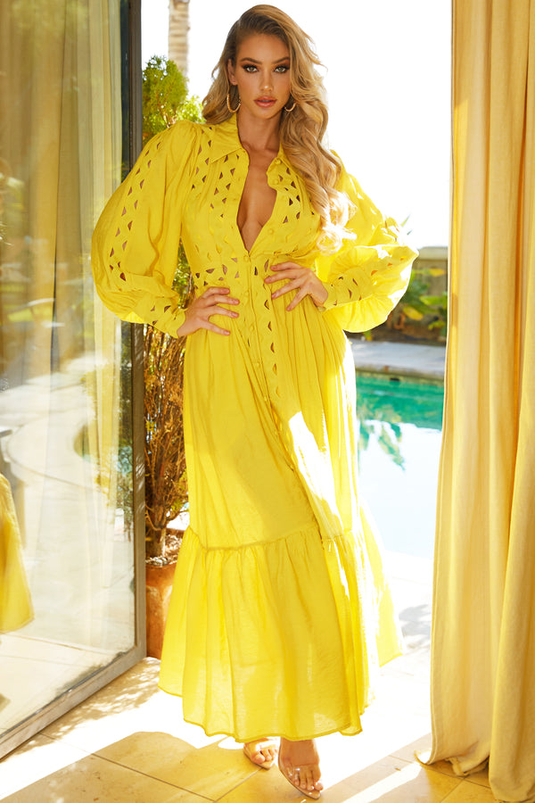Walking On Sunshine Maxi Dress
