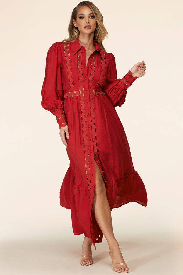 Rose Rouge Maxi Dress