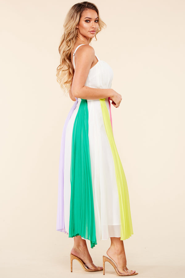 Enchanting Pastels Midi Dress