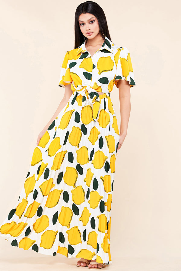 Lemon Party Maxi Dress