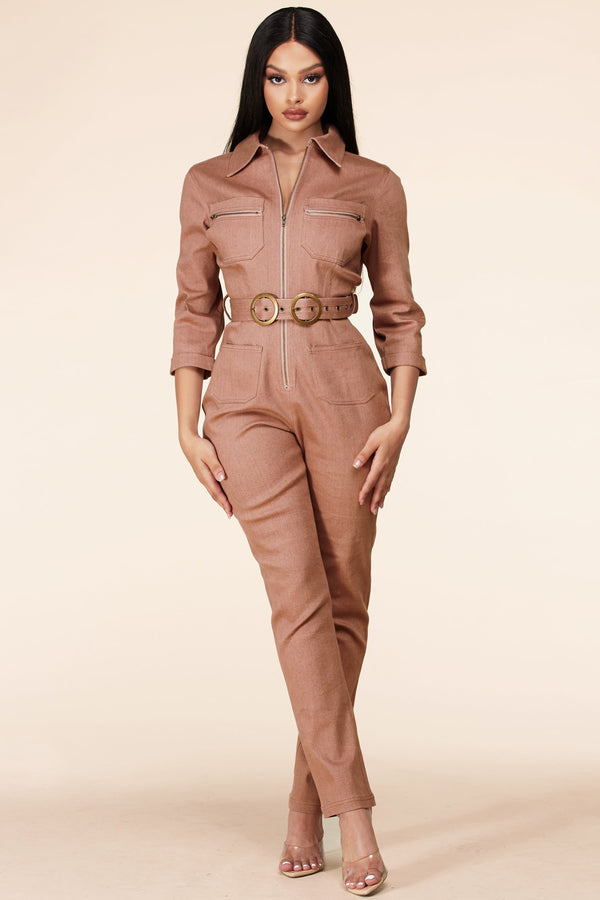 On The Road Utility Jumpsuit
