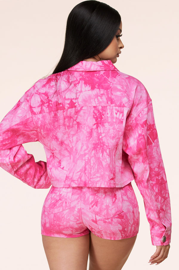 Drunk In Love Tie-Dye Jacket Set