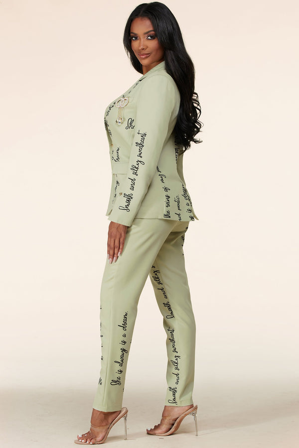 Love Affirmation Pantsuit Set