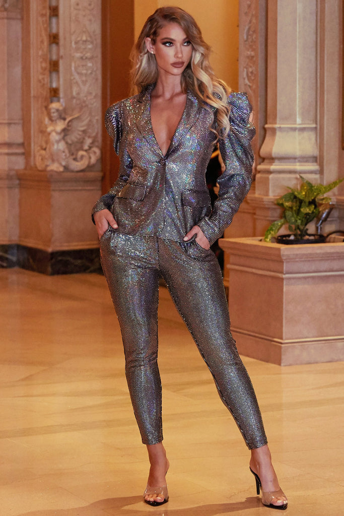 Mirror Ball Pant Suit Set