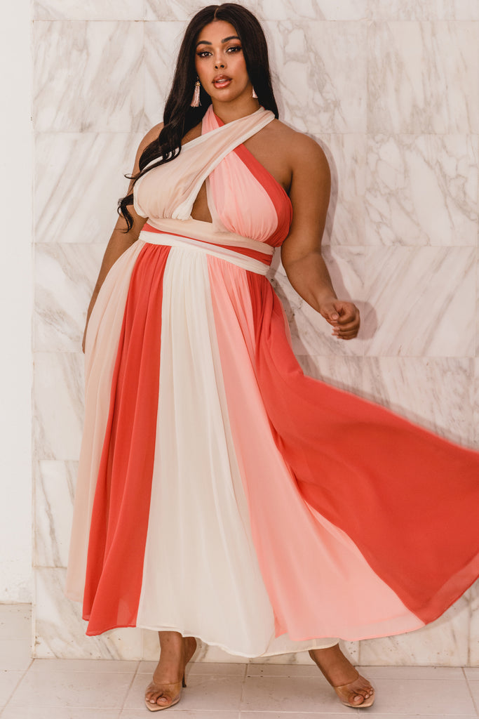 Plus Peaches And Cream Maxi Dress