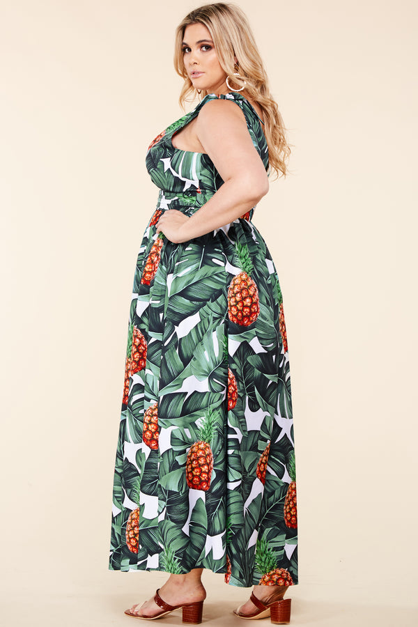 Plus Tropical Getaway Maxi Dress