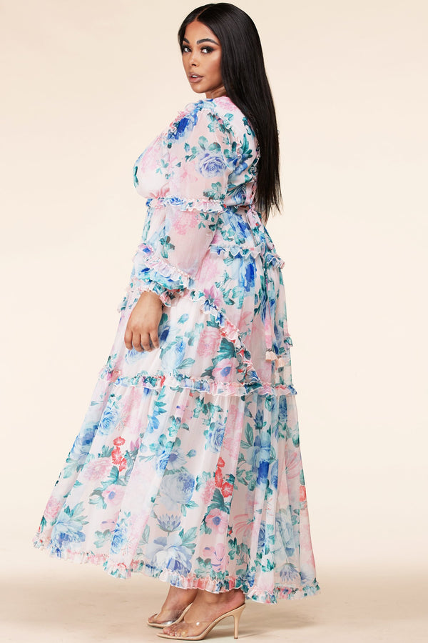 Plus Springtime Lovin' Maxi Dress