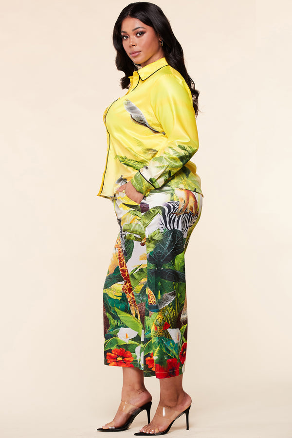 Plus Wildly Trendy Pants Set