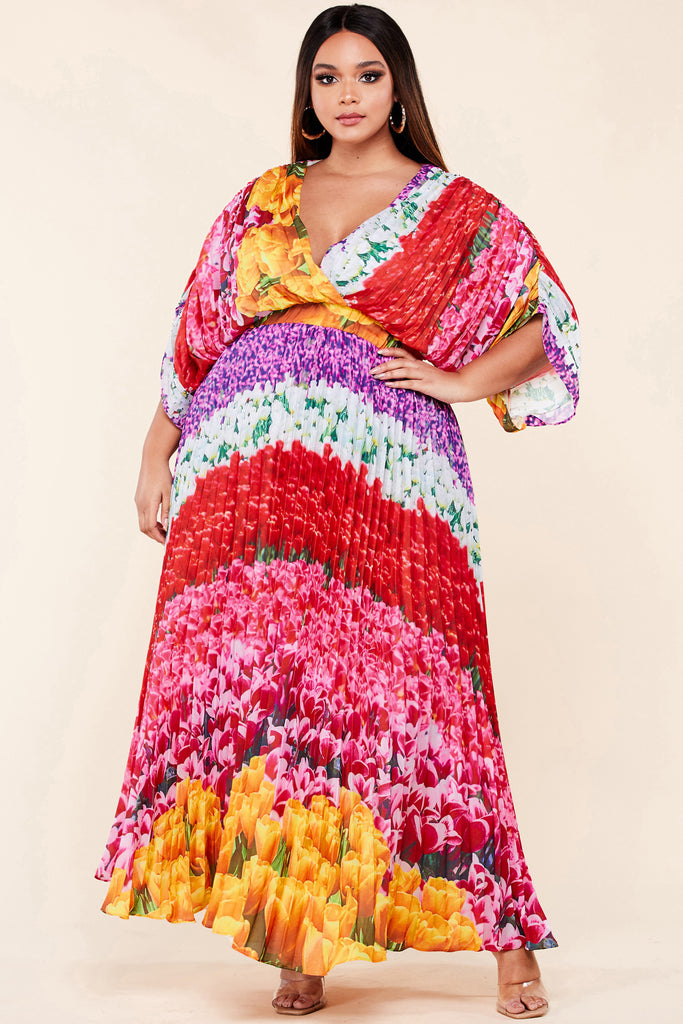 Plus Blooming Beauty Maxi Dress