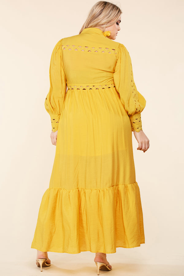 Plus Walking on Sunshine Maxi Dress
