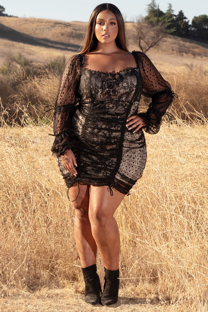 Plus Just in Lace Mini Dress