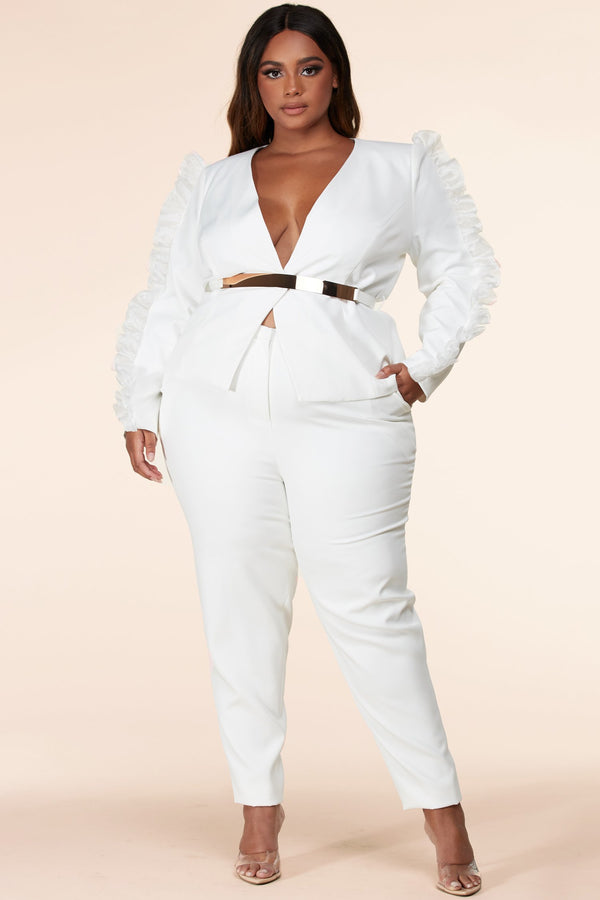Plus Cristal And Caviar Pantsuit Set