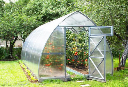 Load image into Gallery viewer, Galvanized Greenhouse with Polycarbonate walls for sale