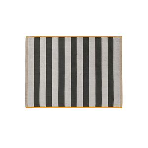 Stripes Bath Mat | Charcoal & Tangerine