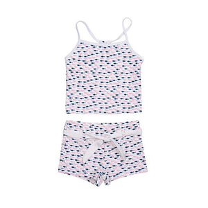 Tankini | Pink & Blue Fish