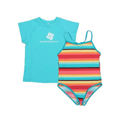 Swimsuit Set | Bright Retro Stripe