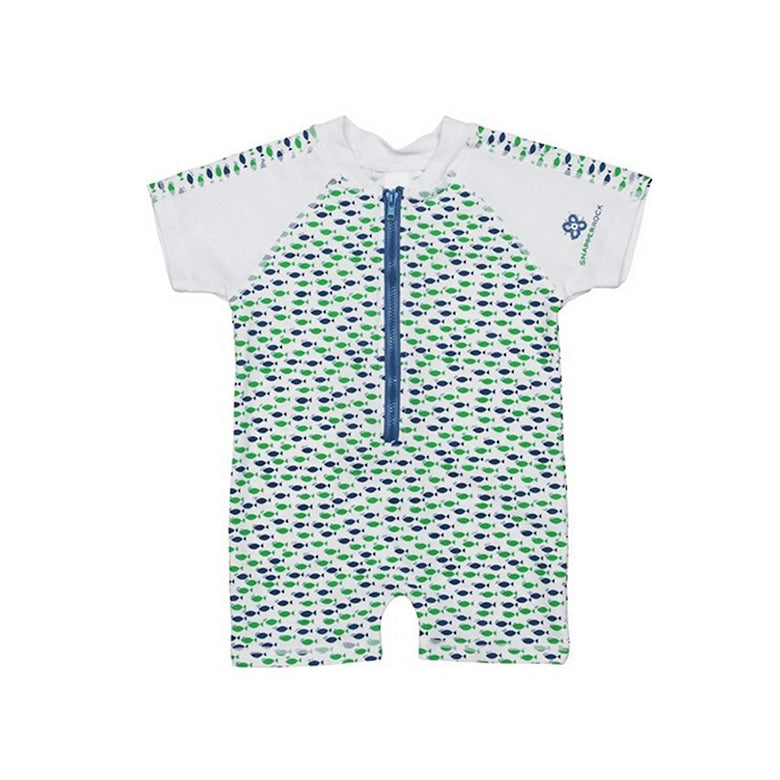Sunsuit | Marine Blue Fish