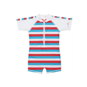 Sunsuit | Red & Blue Stripe