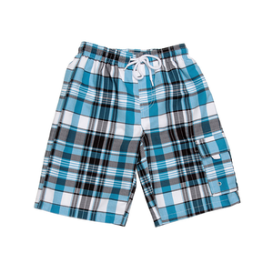 Boardies | Aqua & White Check